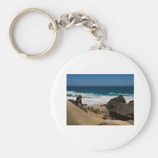 Cabo San Lucas beach 27 Basic Round Button Keychain