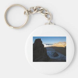 Cabo San Lucas beach 28 Basic Round Button Keychain