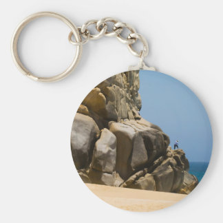 Cabo San Lucas beach 32 Basic Round Button Keychain