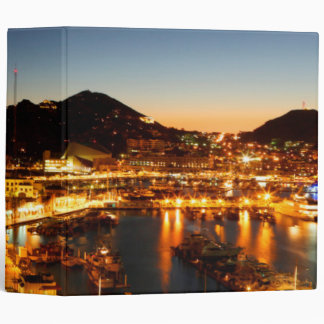 Cabo San Lucas Cityscape At Sunset, Mexico Binder