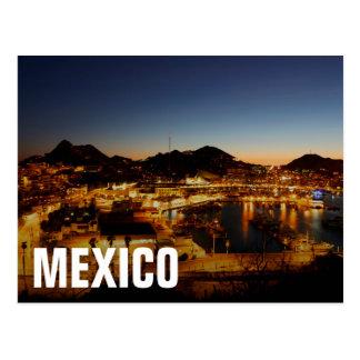 Cabo San Lucas Cityscape At Sunset, Mexico Postcard