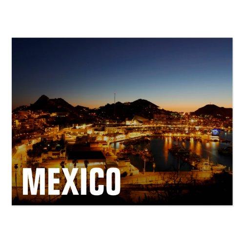Cabo San Lucas Cityscape At Sunset Mexico Postcard