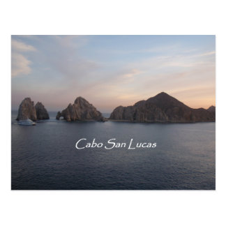 Cabo San Lucas en la puesta del sol Postal