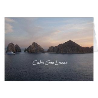Cabo San Lucas en la puesta del sol Tarjeton