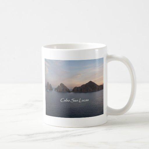 Cabo San Lucas en la puesta del sol Taza De Café