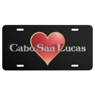 "Cabo San Lucas Faux-""Diamond"" Bling License Plate"