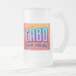 CABO SAN LUCAS FROSTED GLASS BEER MUG