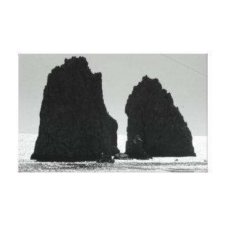 Cabo San Lucas Mexico Black & White Canvas Print