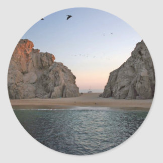 Cabo San Lucas Mexico Lover's Beach Classic Round Sticker