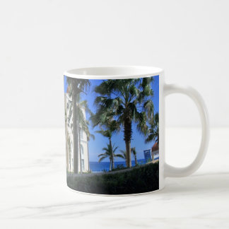 Cabo San Lucas Mexico Palm Trees Blue Sky Coffee Mug