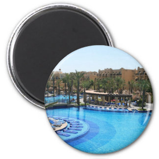 Cabo San Lucas Mexico Pool View 2 Inch Round Magnet