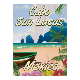 Cabo San Lucas Mexico travel poster