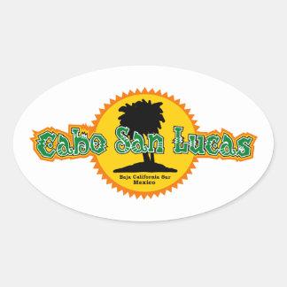 Cabo San Lucas Sun Oval Sticker