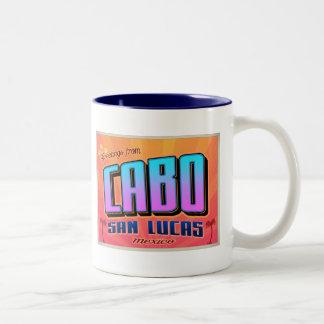 CABO SAN LUCAS Two-Tone COFFEE MUG