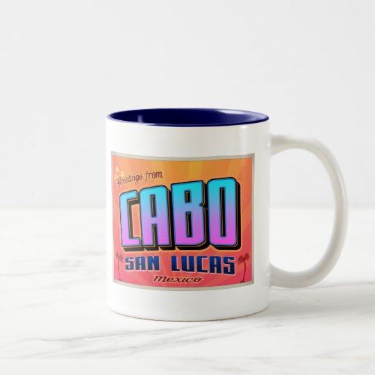 CABO SAN LUCAS Two-Tone COFFEE MUG
