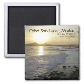 Cabo San Lucas view from Sunset Da Mona Lisa 2 Inch Square Magnet