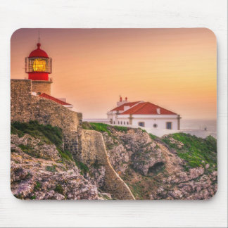 Cabo Sao Vicente At The Sunset | Algarve, Portugal Mouse Pad
