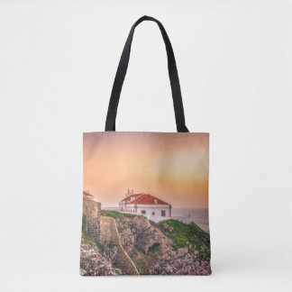 Cabo Sao Vicente At The Sunset | Algarve, Portugal Tote Bag