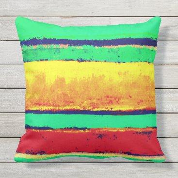 Beach Themed Cabo Stripes Artist Designed Outdoor Pillow