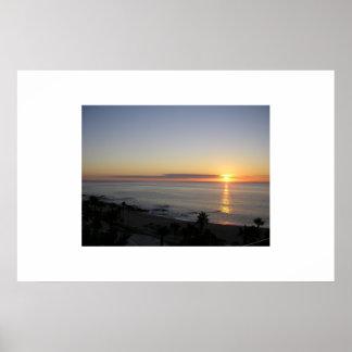 Cabo sunrise poster