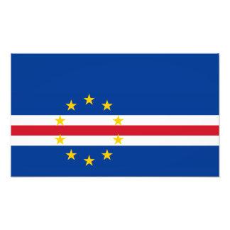 Cabo Verde - bandera caboverdiana Fotografía