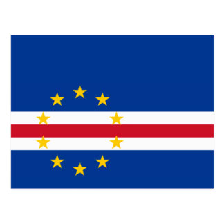 Cabo Verde - bandera caboverdiana Tarjetas Postales