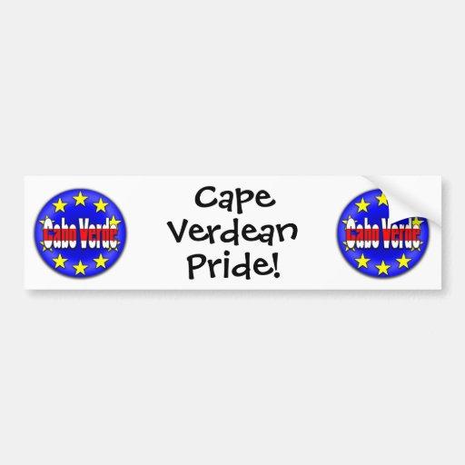 ¡Cabo Verde! Etiqueta De Parachoque