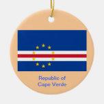 CABO VERDE * ornamento de encargo del navidad Adorno Navideño Redondo De Cerámica