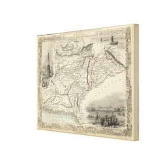 Cabool, el Punjab y Beloochistan Impresión De Lienzo