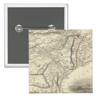 Cabool, el Punjab y Beloochistan Pin Cuadrado