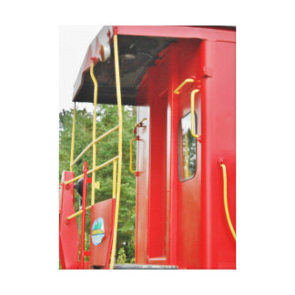Caboose Adirondack Train Scenery Gallery Wrap Canvas