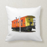 Caboose And Railroad Crossing Sign Pillows