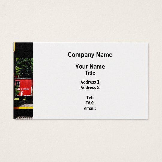 Caboose In the Distance Business Card