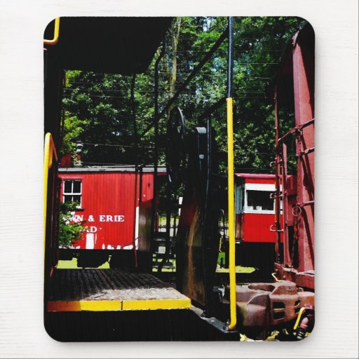 Caboose In the Distance Mouse Pad