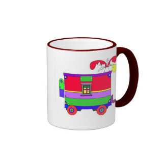 caboose  ringer coffee mug