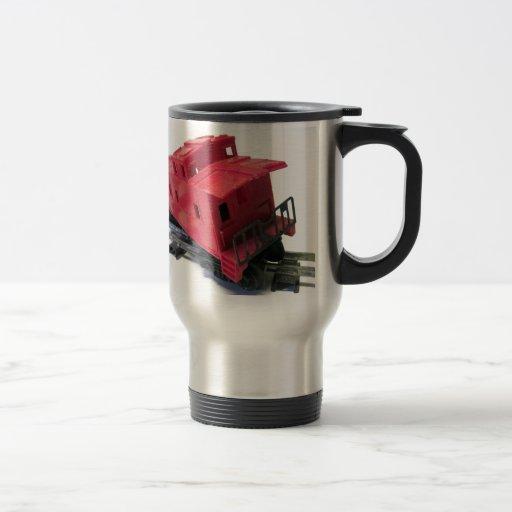 Caboose rojo tazas