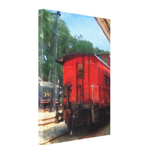 Caboose Stretched Canvas Print