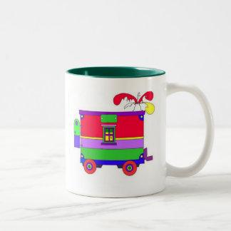caboose  Two-Tone coffee mug