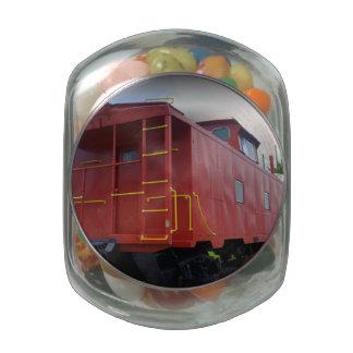 Caboose viejo jarrones cristal