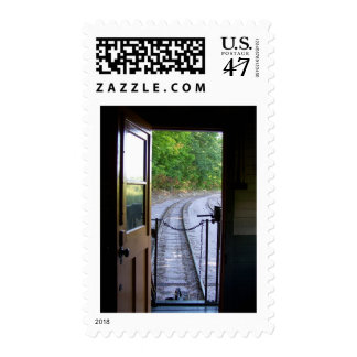caboose view postage stamp
