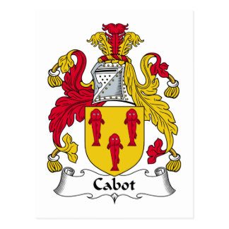 Cabot Family Crest Postcard