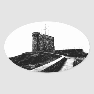 Cabot Tower Oval Sticker