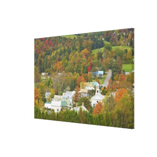Cabot, Vermont in fall. Northeast Kingdom. Canvas Print