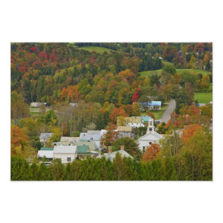 Cabot, Vermont in fall. Northeast Kingdom. Poster