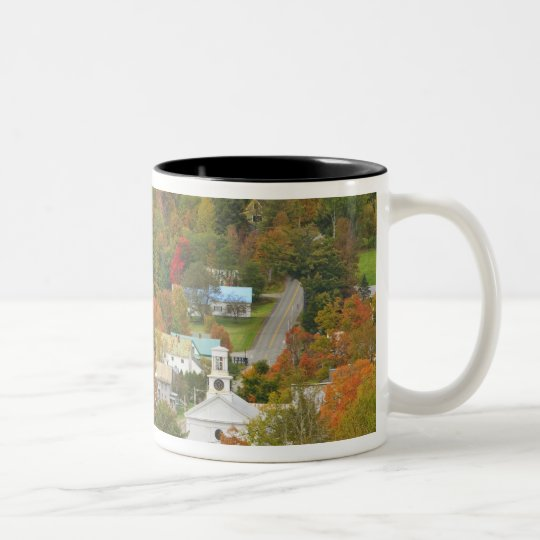 Cabot, Vermont in fall. Northeast Kingdom. Two-Tone Coffee Mug