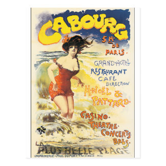 Cabourg Vintage Travel Poster Postcard