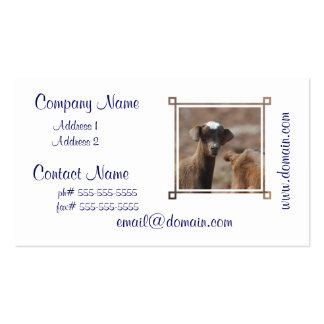 Cabra adorable del bebé plantillas de tarjetas personales
