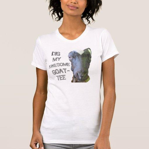 "Cabra camiseta menuda para mujer de ""MI GOAT-TEE I"