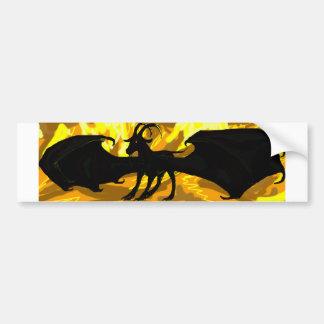 Cabra coa alas en pegatina para el parachoques del pegatina de parachoque