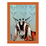 Cabra con bella arte de la urraca postal